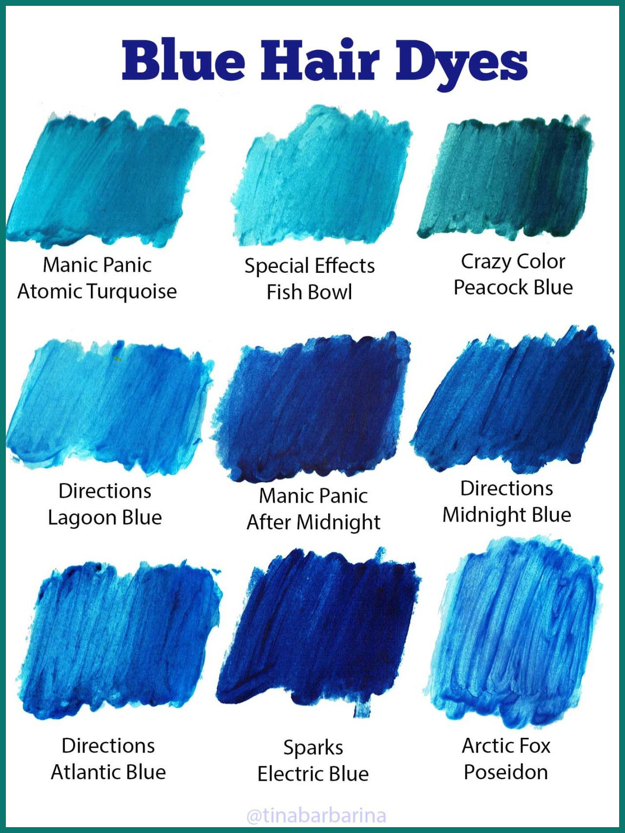 blue hair dye colors 282453 Pin by shop gurl on art in 2019